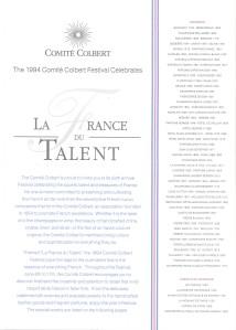 Comité Colbert Brochure page 1