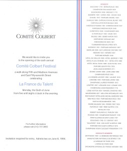 Comité Colbert Invitation inside