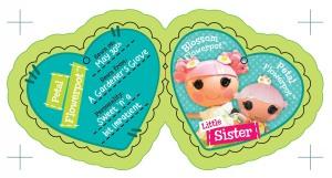Lalaloopsy Littles Hangtag for Petal Flowerpot