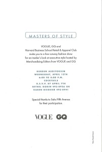 Masters of Style Invitation back