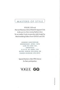 Masters of Style Invitation back